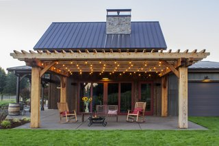 Sustainable Redwood Stars in an Oregon Architectural Showcase - Photo 2 of 6 - Naturally durable, redwood can be left to naturally weather. In rainy climates, the material will darken before turning a soft, driftwood gray.