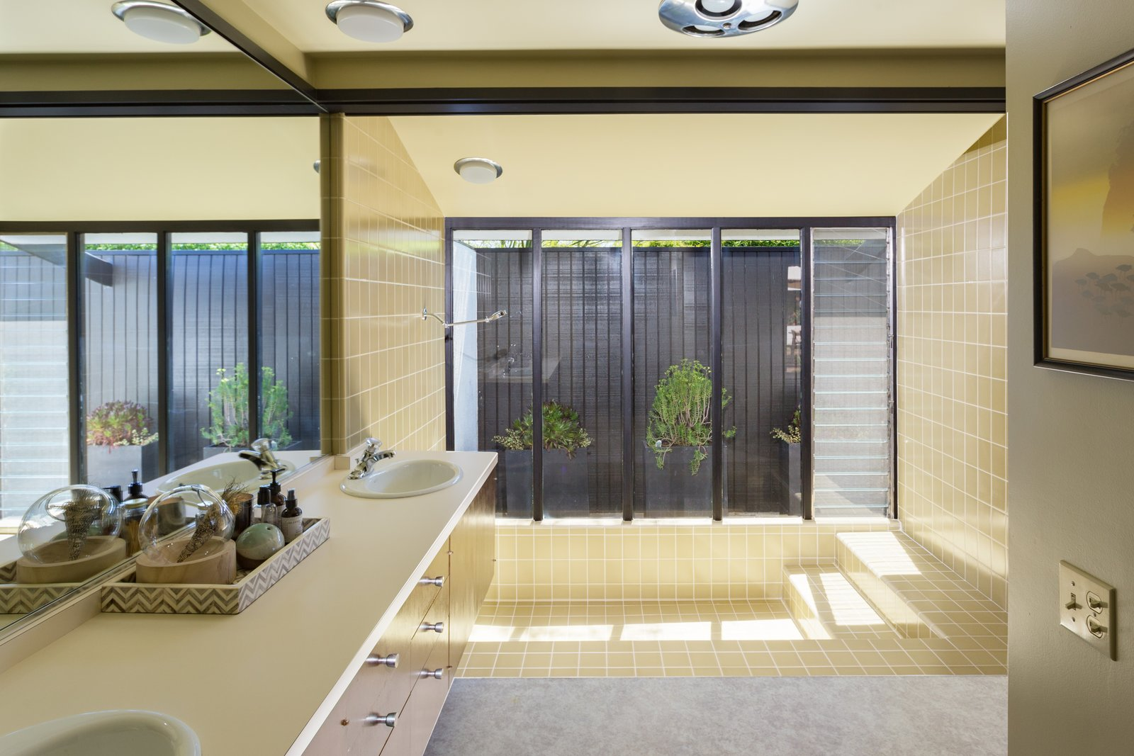 Tagged: Bath Room and Open Shower.  Photo 9 of 14 in Offered at $899K, a Restored Midcentury Abode Shines in Southern California