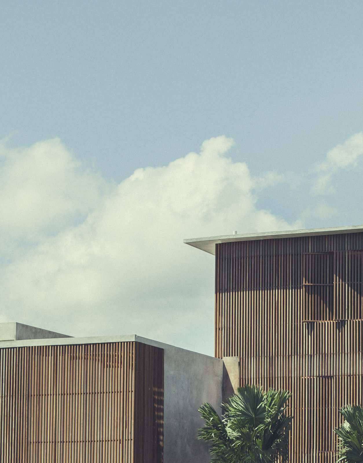 Tagged: Exterior, Wood Siding Material, and Flat RoofLine.  Photo 3 of 12 in Go Beyond the Basics in an Australian Fashion Designer's Surf-Inspired Bali Hotel