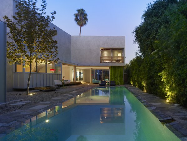 Modern home with outdoor, large pool, and salt water pool. Photo 9 of Norwich Drive Residence