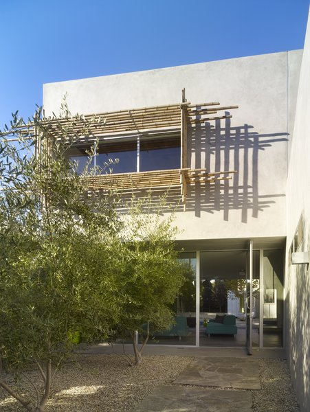 Modern home with outdoor, front yard, and trees. Photo 2 of Norwich Drive Residence