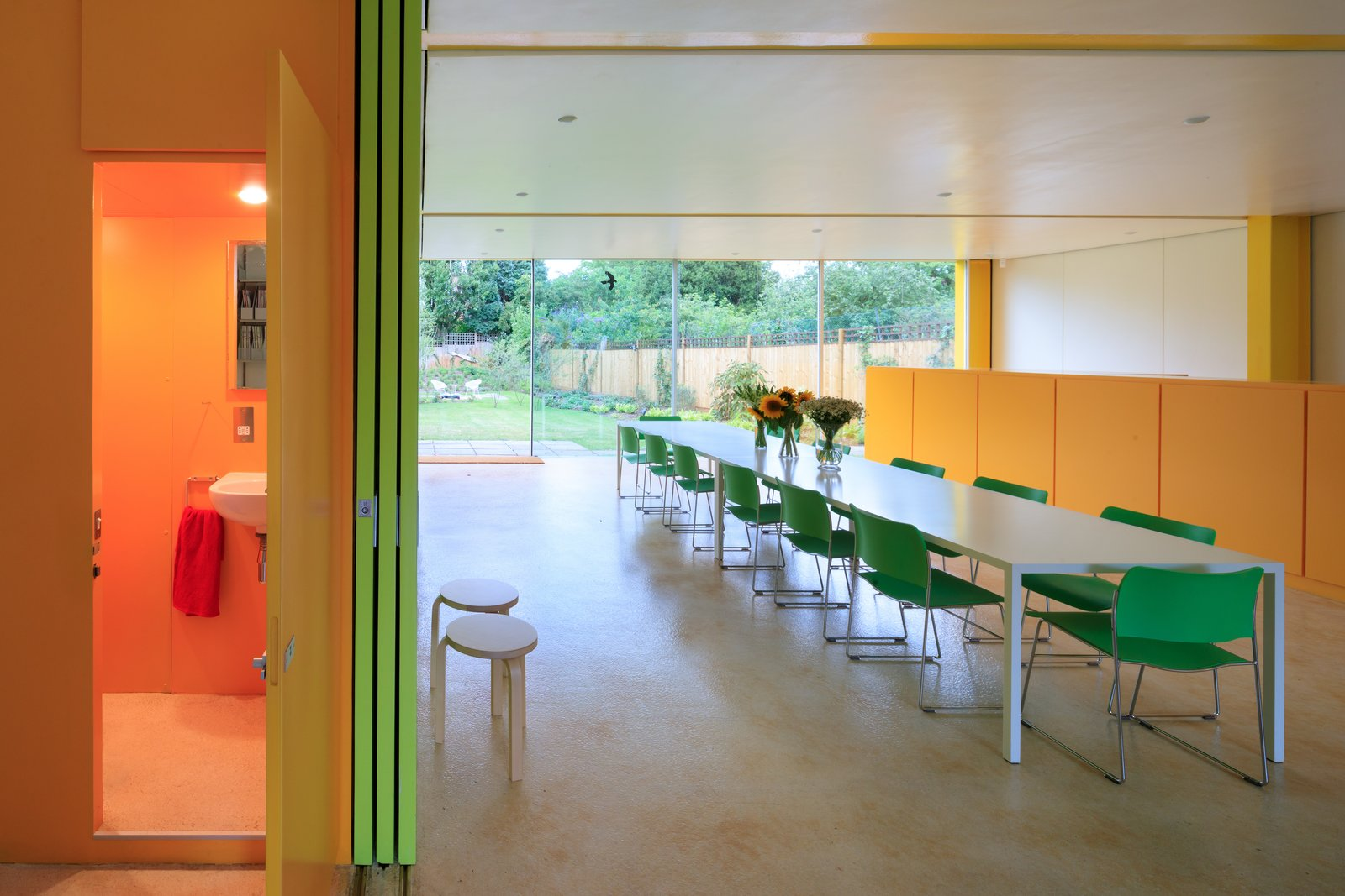 Tagged: Dining Room, Chair, and Table.  Photo 4 of 14 in Fully Renovated, Wimbledon House by Richard Rogers Hosts New Architecture Fellows in London