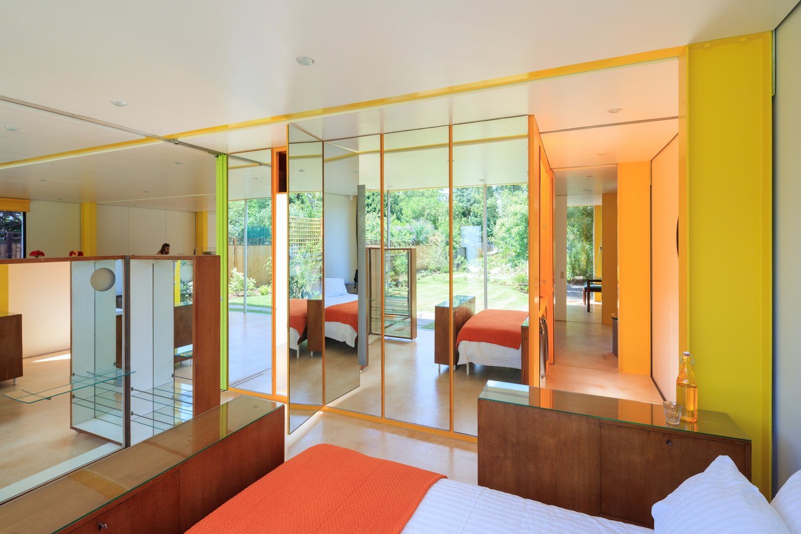 Tagged: Bedroom and Bed.  Photo 2 of 14 in Fully Renovated, Wimbledon House by Richard Rogers Hosts New Architecture Fellows in London