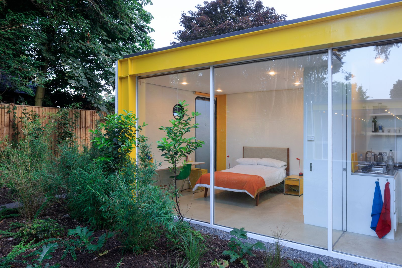 Tagged: Bedroom and Bed.  Photo 10 of 14 in Fully Renovated, Wimbledon House by Richard Rogers Hosts New Architecture Fellows in London