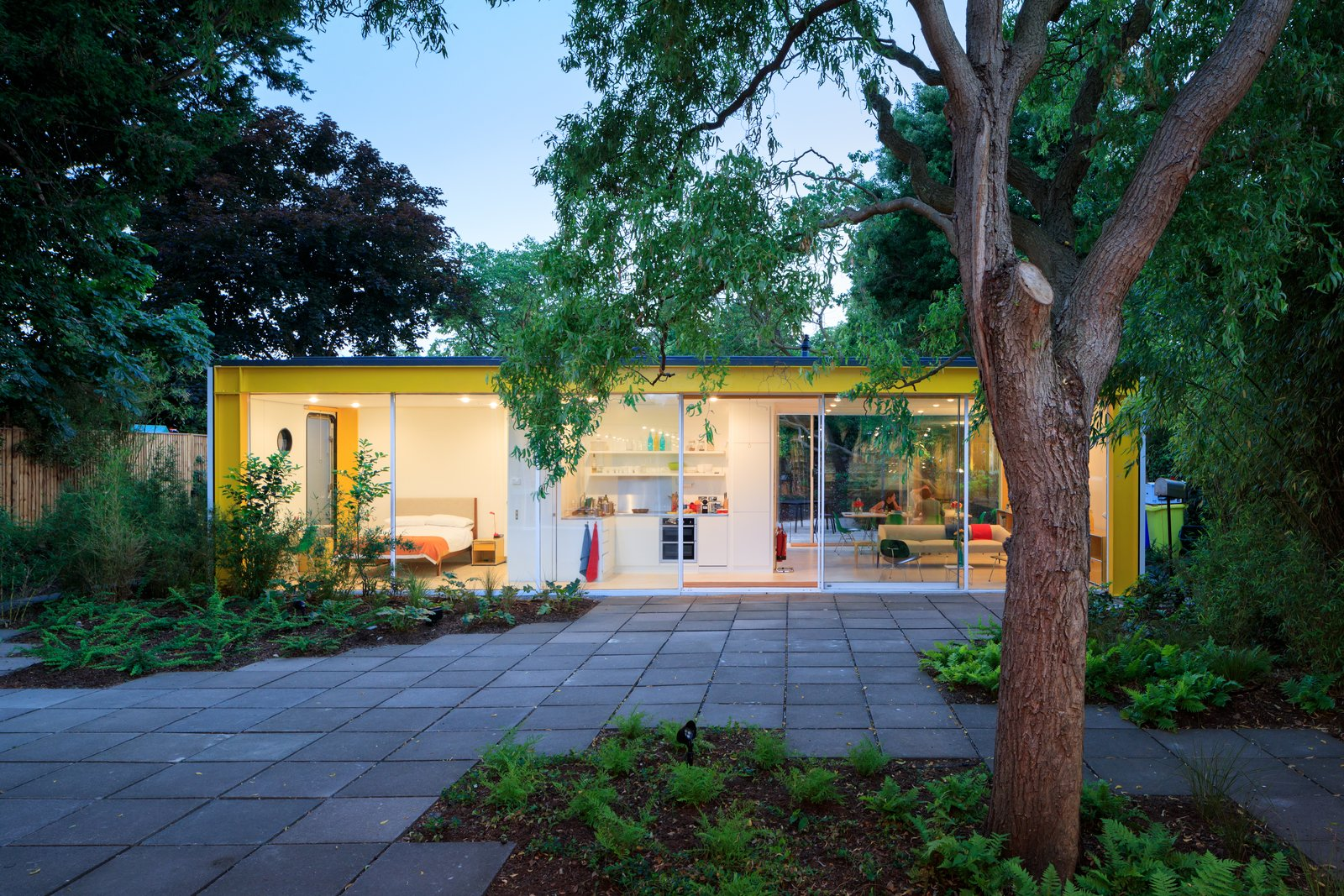 Tagged: Outdoor, Back Yard, and Trees.  Photo 1 of 14 in Fully Renovated, Wimbledon House by Richard Rogers Hosts New Architecture Fellows in London