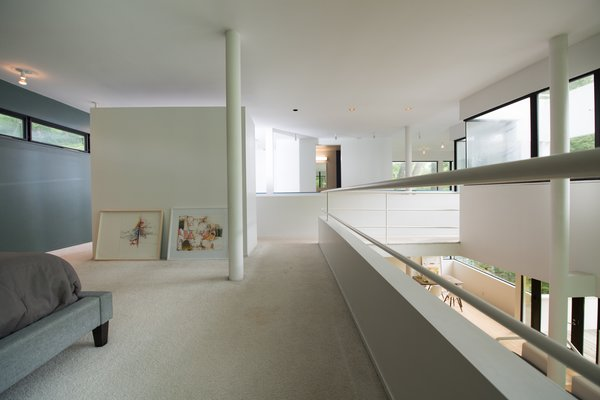 Modern home with bedroom, recessed lighting, and carpet floor. Photo 8 of Hanselmann House