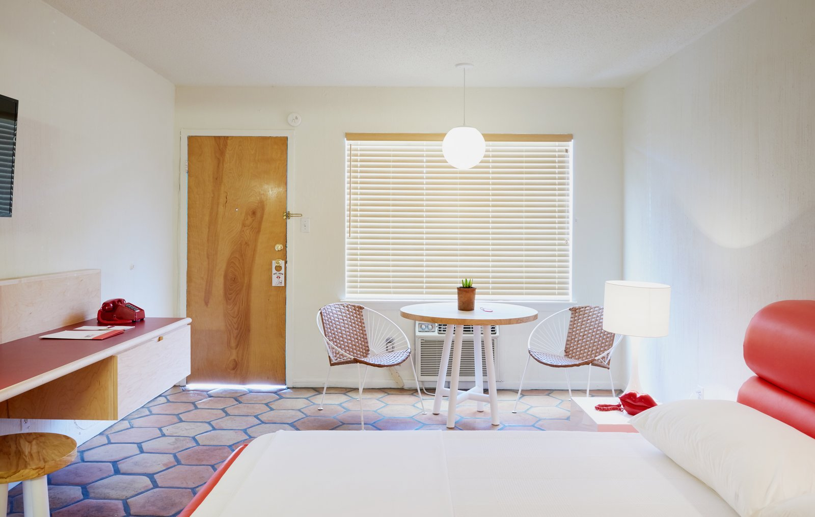 Photo 6 of 13 in The Rejuvenated Austin Motel Welcomes Guests With Upbeat, Midcentury-Modern Vibes