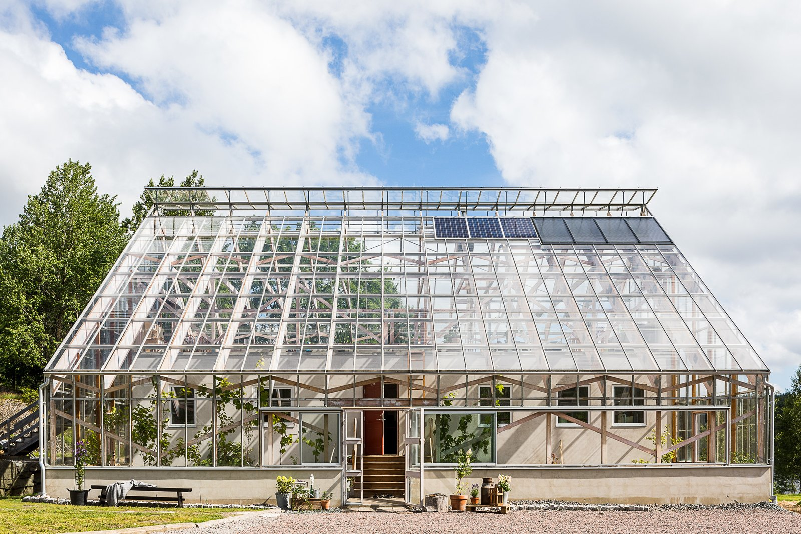 Tagged: Outdoor, Front Yard, and Grass.  Photo 1 of 12 in Make This Enchanting Swedish Greenhouse Your Home For $864K