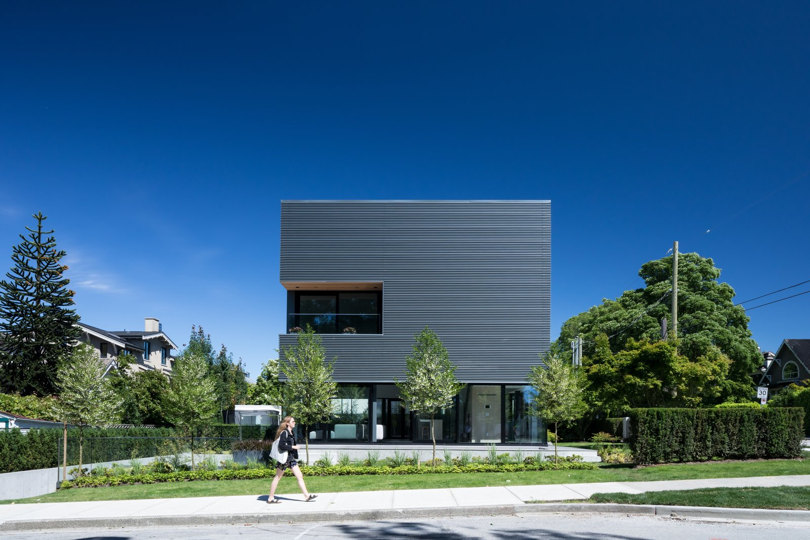 Tagged: Exterior, Metal Siding Material, and House.  Photo 2 of 12 in Wrapped in Galvanized Steel, 'Cube House' in Vancouver Asks $12.8M