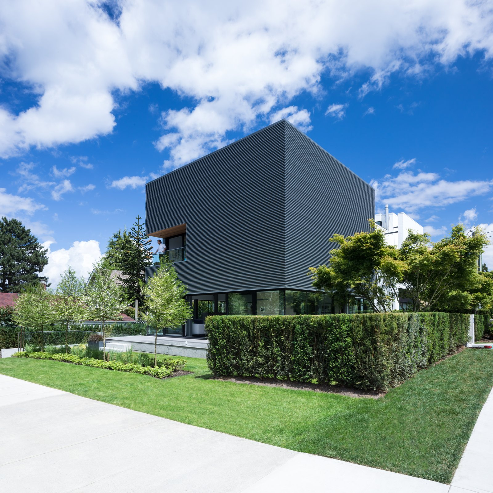 Tagged: Exterior, House, and Metal Siding Material.  Photo 1 of 12 in Wrapped in Galvanized Steel, 'Cube House' in Vancouver Asks $12.8M