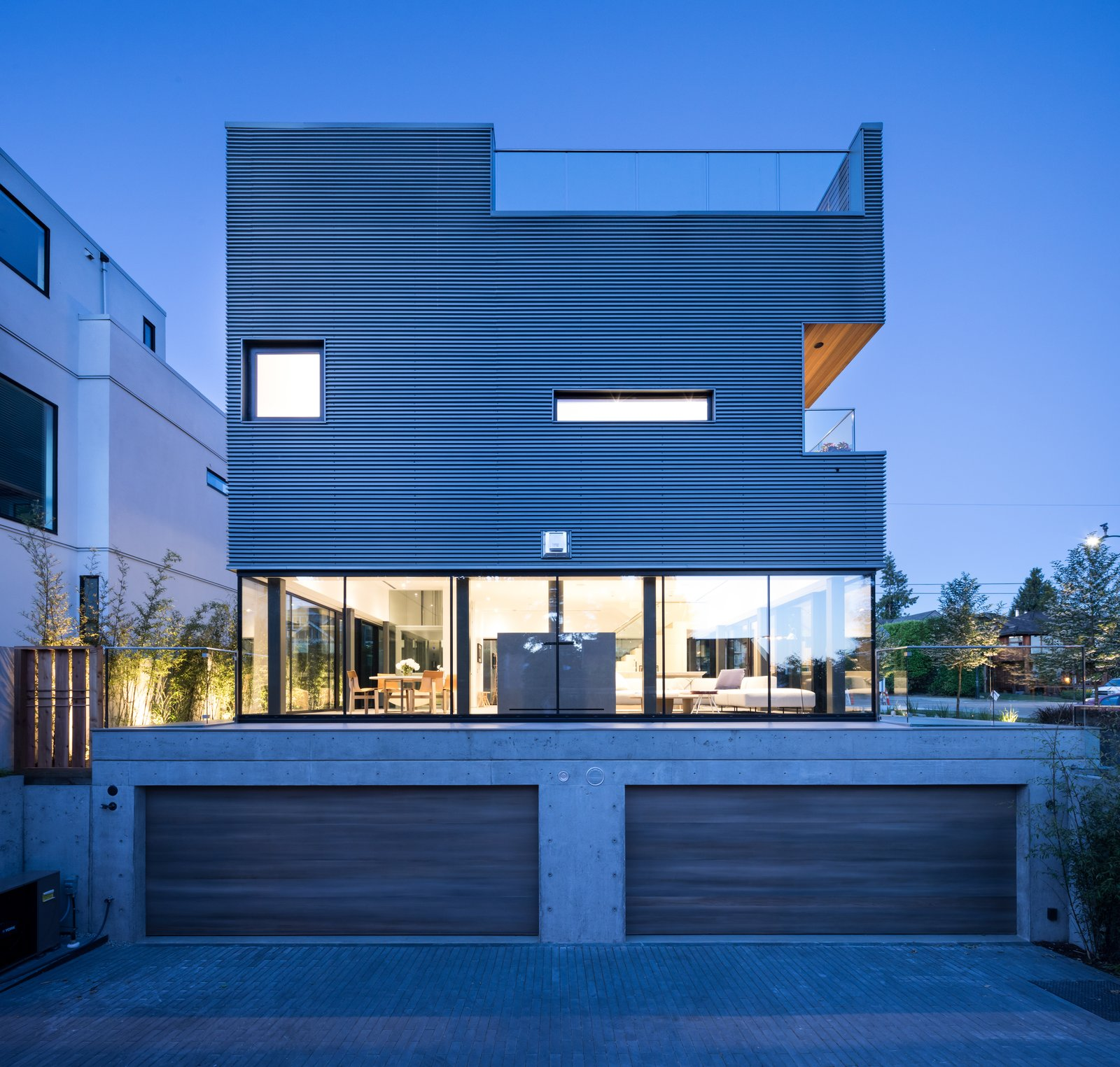 Photo 11 of 12 in Wrapped in Galvanized Steel, 'Cube House' in Vancouver Asks $12.8M