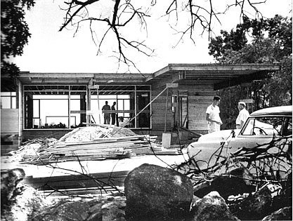 Historic Photo of house under construction  Mid-Century Modern renovation by FR|SCH Projects