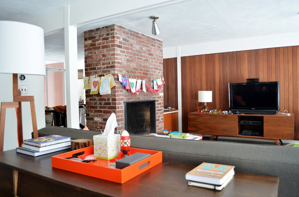 Living Room  Mid-Century Modern renovation by FR|SCH Projects