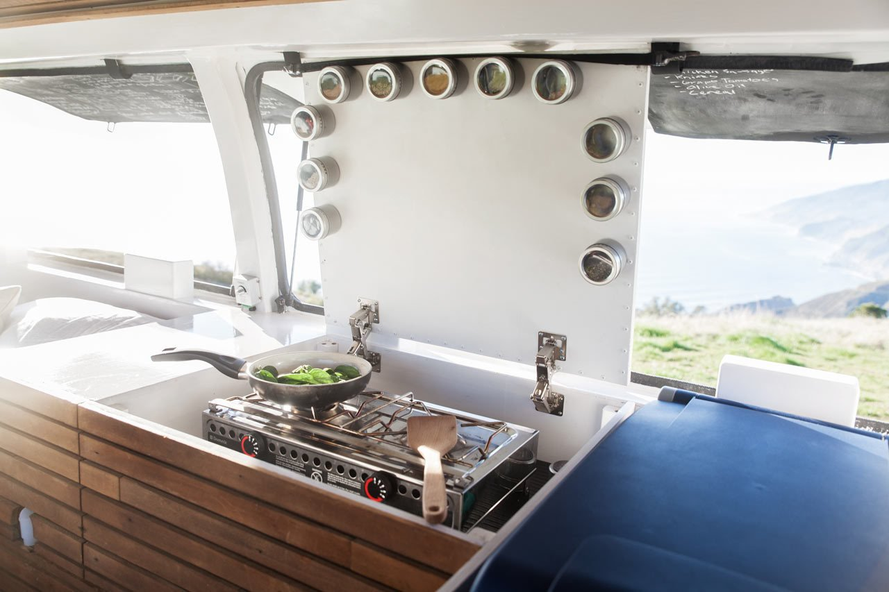 Solutions For Tiny Kitchens by Aileen Kwun from A Used Cargo Van Becomes a Mobile Studio