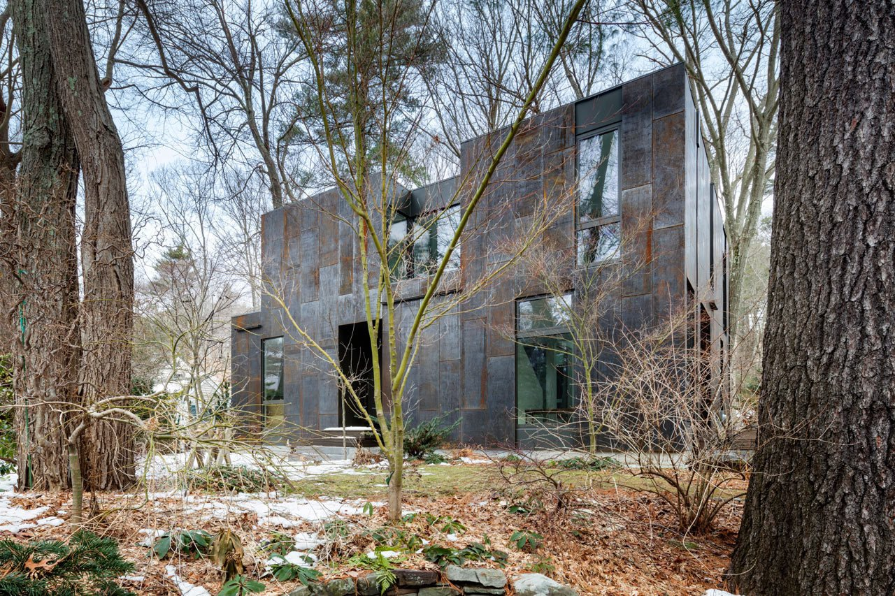 Photo 3 of 14 in Weather Steel Home By Merge Architects