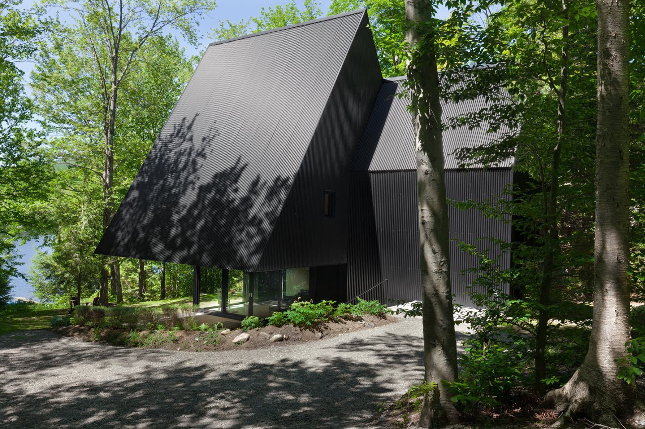 Photo 1 of 23 in FAHouse: A Double Triangular House in the Forest
