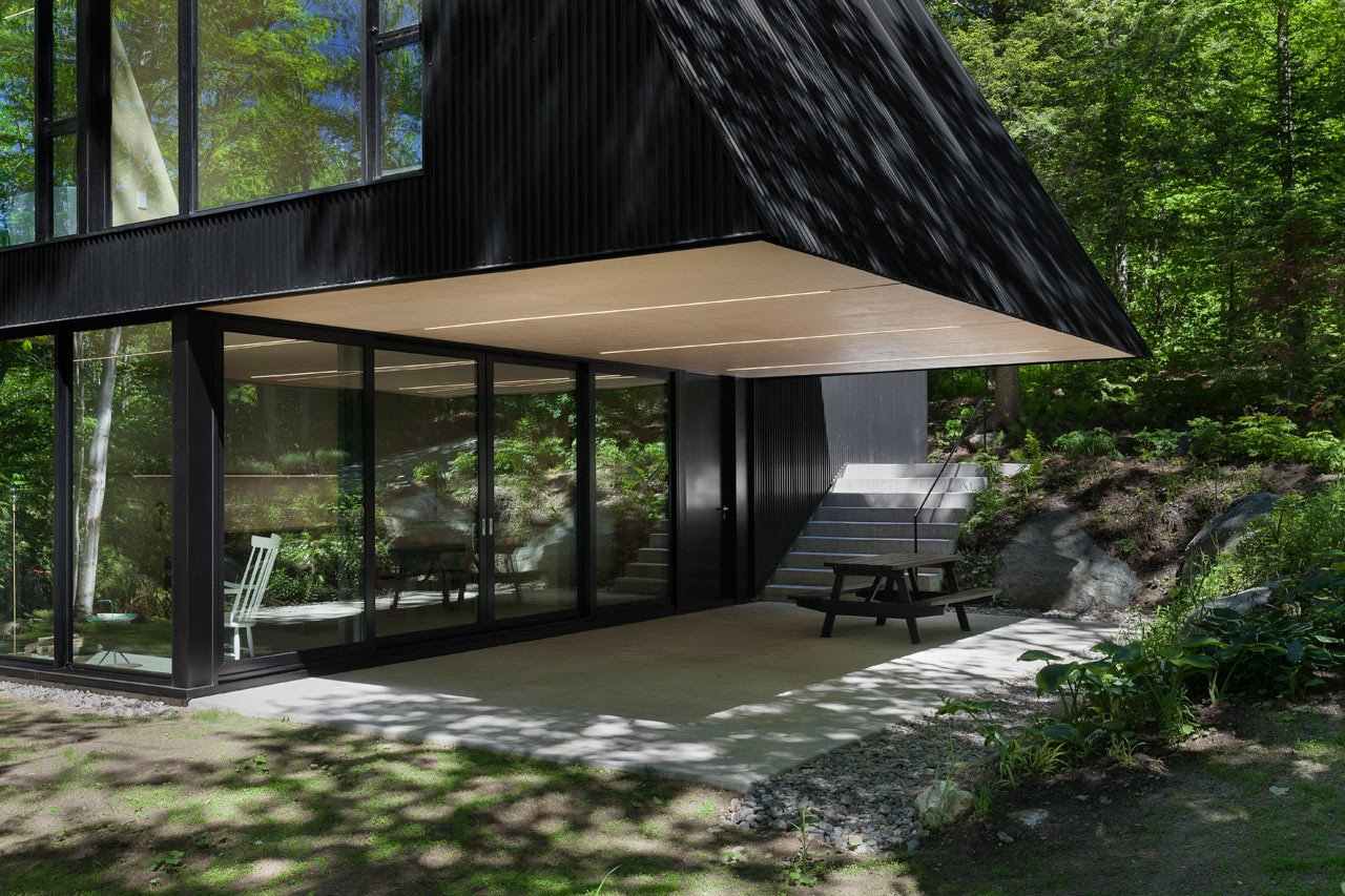 outdoors by Laura McLaughlin from FAHouse: A Double Triangular House in the Forest
