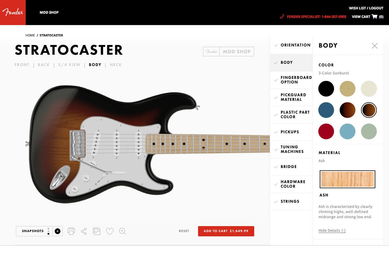 Photo 2 of 19 in Fender's Mod Shop Lets You Build Your Own Modern Classic