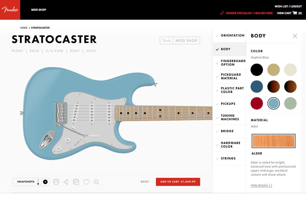 Photo 4 of 19 in Fender's Mod Shop Lets You Build Your Own Modern Classic