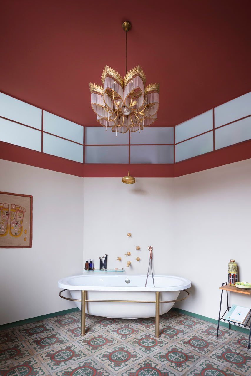 #A+ZDesignStudio #DesignMilk  Photo by Beppe Brancato  Tubs by Jenny Xie from A Weapons Factory In Budapest Becomes A Home