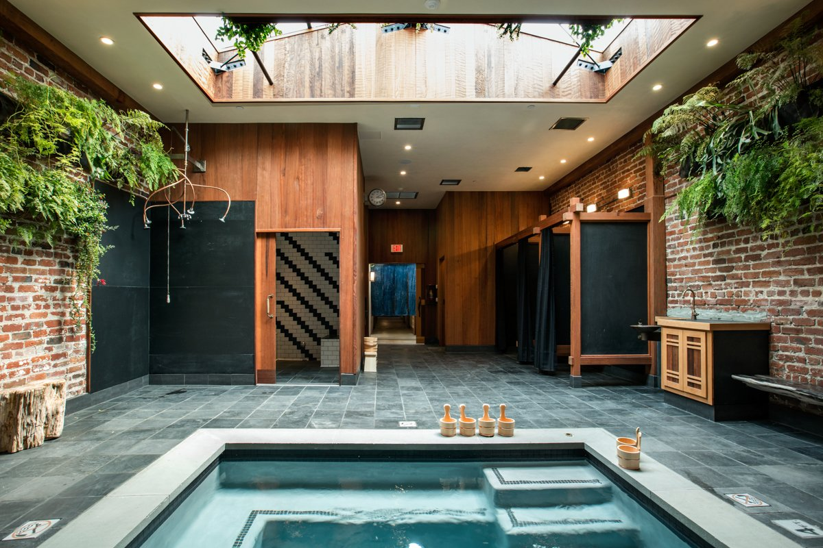 Photo 1 of 14 in Former Auto Body Shop Transformed Into Zen Bathhouse