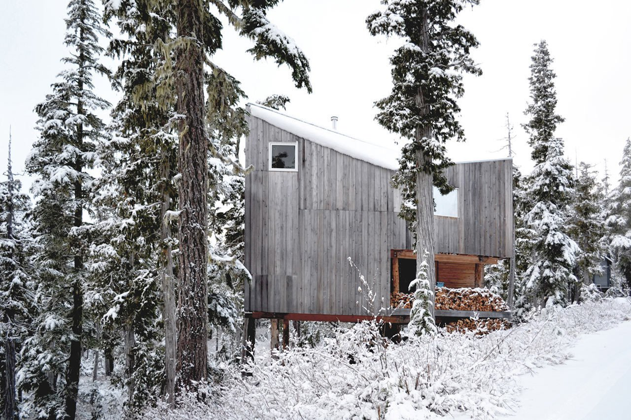 Photo 1 of 11 in 10 Modern Wintry Cabins We'd Be Happy to Hole Up In