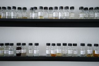 ORRIS Perfumery: The Essence Of Los Angeles Bottled Up - Photo 4 of 20 - Dozens of essential oils line the walls of the in-house lab