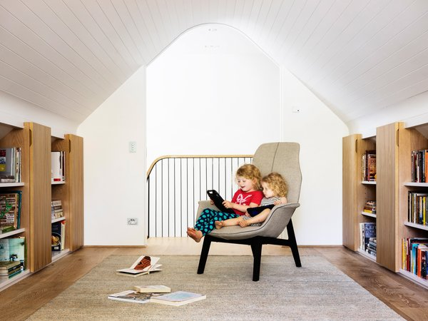 Initially, the attic room was going to be a study for the hard working parents but the girls appropriated it as their wet weather playroom. © Justin Alexander Photo 13 of Loggia in Arcadia modern home