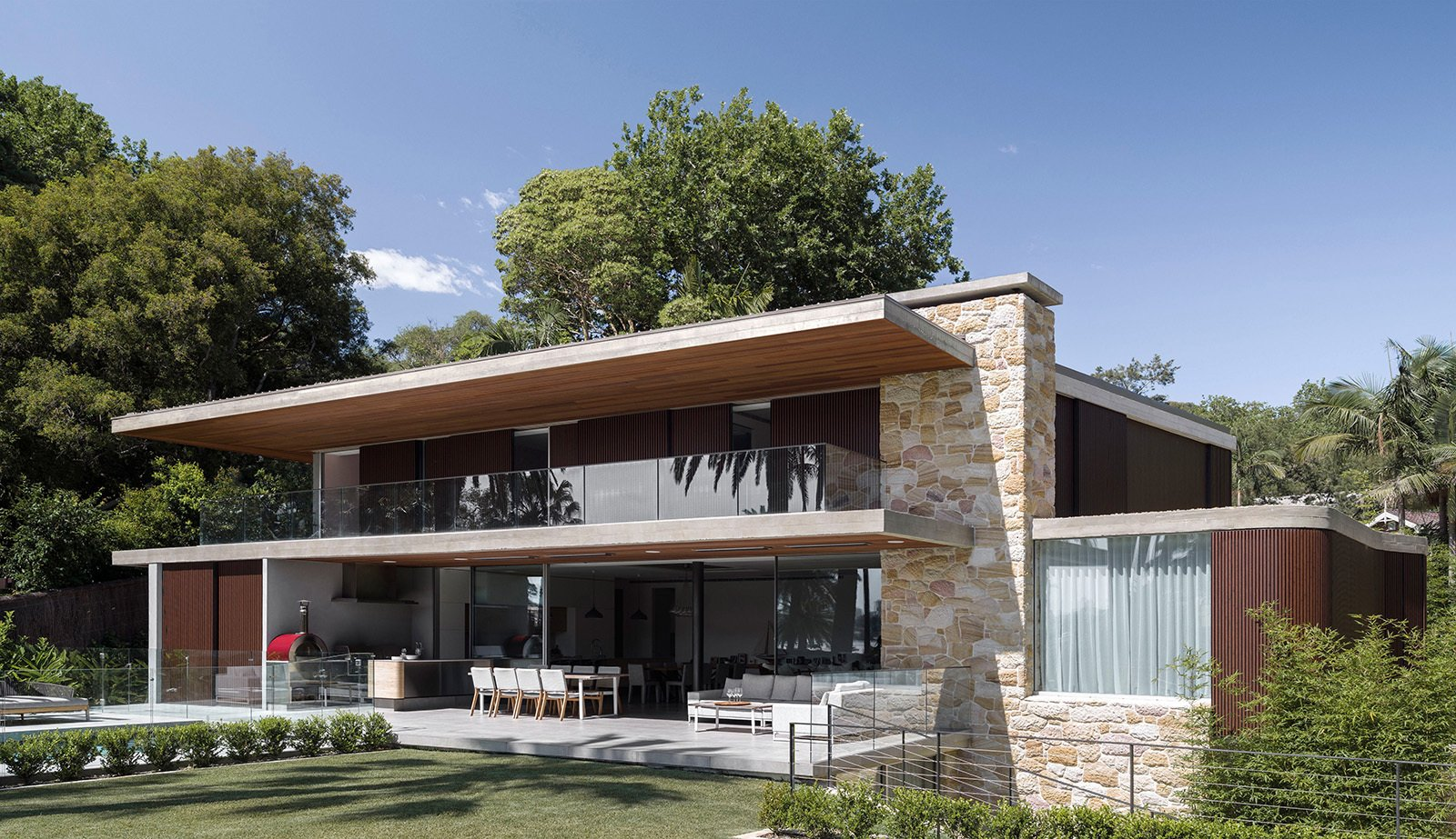 Tagged: Exterior, House, and Flat RoofLine.  Sticks & Stones Home by Luigi Rosselli Architects