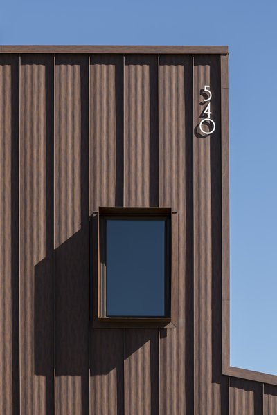 Custom Cor-Ten steel window box detail #infill #development #townhouse #phoenix #modern #urban #window #shade #windowbox Photo 9 of Uptown Row modern home