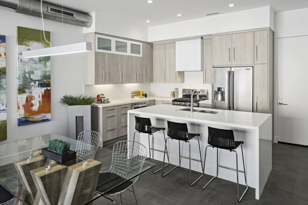 Kitchen #infill #development #townhouse #phoenix #modern #urban #townhome Photo 6 of Uptown Row modern home