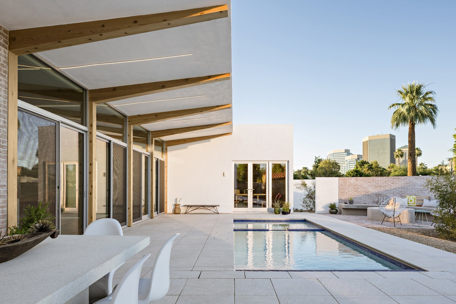 """Sol"" is a new home in the Willo Historic District in Phoenix. The house is a modern interpretation of the vernacular courtyard style found throughout the southwest."