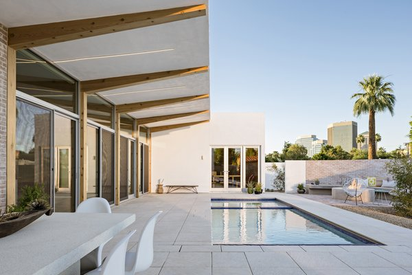 """Tips on How to Design a New Modern Home in a Historic Neighborhood - Photo 2 of 5 - """"Sol"""" is a new home in the Willo Historic District in Phoenix that was designed by The Ranch Mine. The house is a modern interpretation of the vernacular courtyard style found throughout the southwest."""
