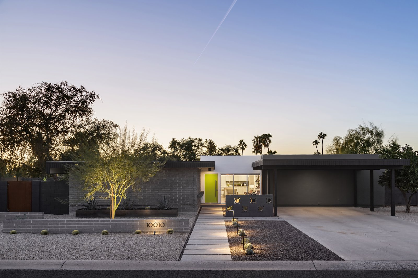 Desert Midcentury Modern Landscape Tagged: Outdoor, Desert, Raised Planters, Pavers, Concrete, Horizontal, Concrete, and Landscape.  Best Outdoor Pavers Raised Planters Photos from Beadle Buddy