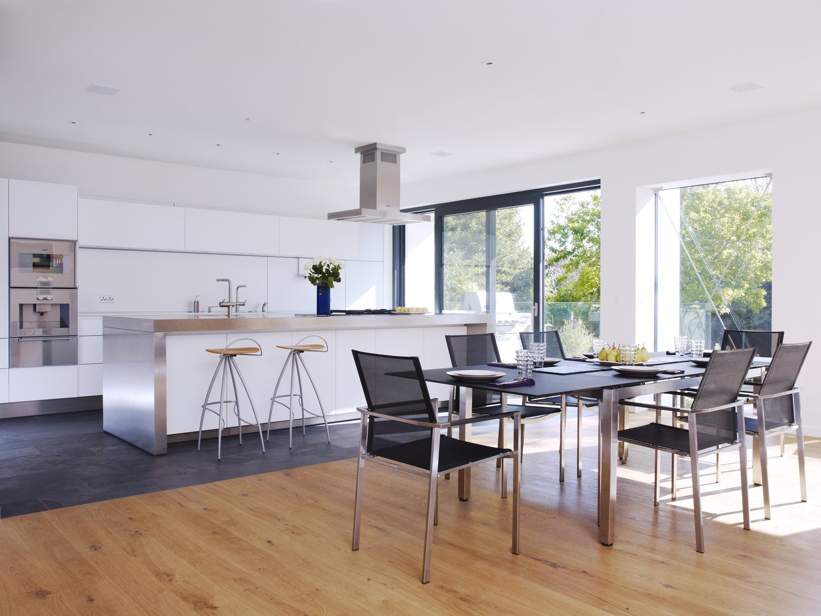 Open plan living/dining/kitchen, a frequent element of our designs