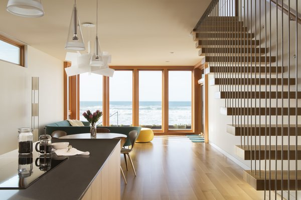 Living + Kitchen Photo 8 of Roads End Beach House modern home