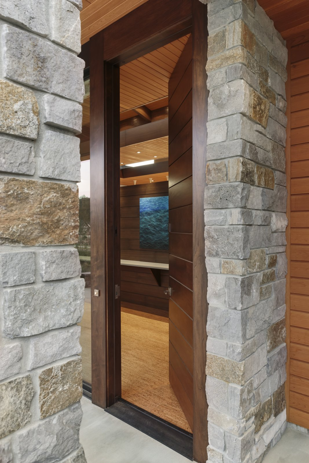 Entry Door  Westwind Residence by Giulietti / Schouten AIA Architects
