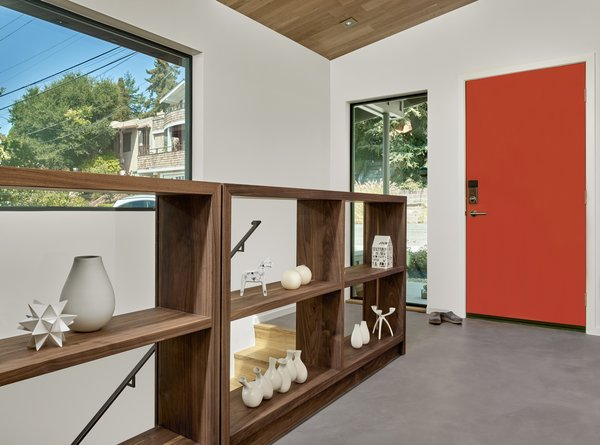 The open shelves are by Matt Eastvold, and feature a ultra clear glass back.  Photo 8 of Trestle Glen Modern modern home