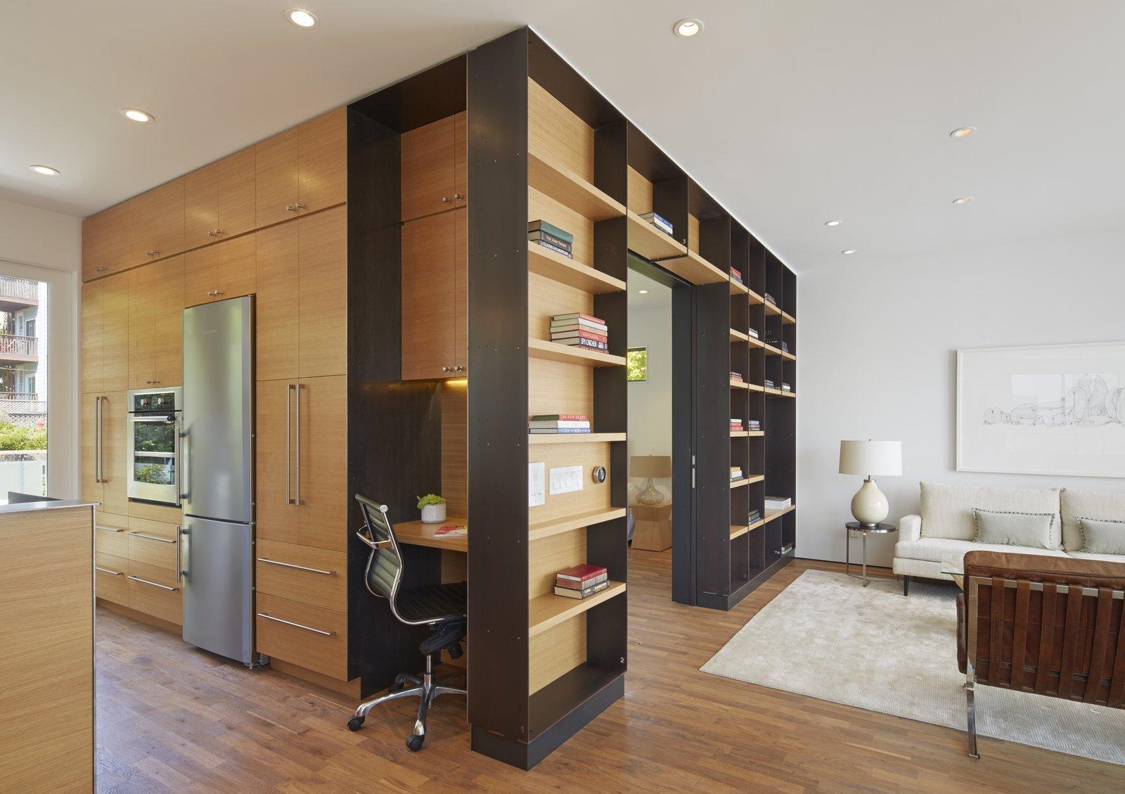 Tagged: Living Room, Ceiling Lighting, and Medium Hardwood Floor.  Best Photos from SteelHouse 1+2
