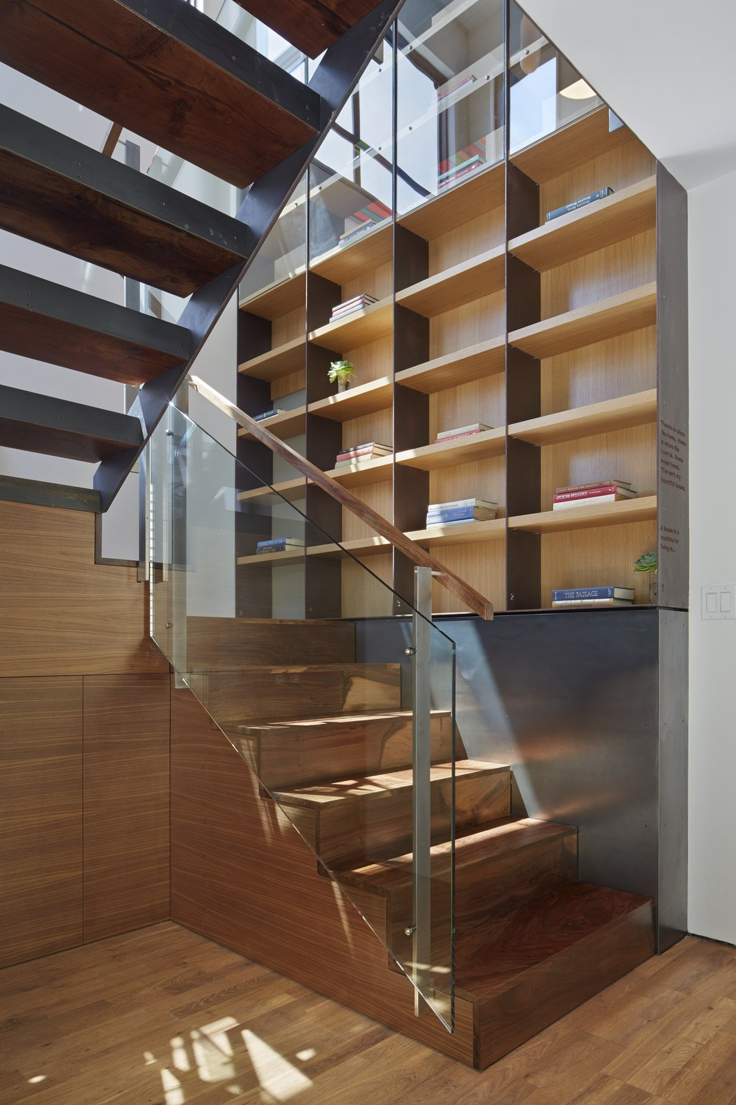 Tagged: Staircase, Wood Tread, and Glass Railing.  Best Photos from SteelHouse 1+2