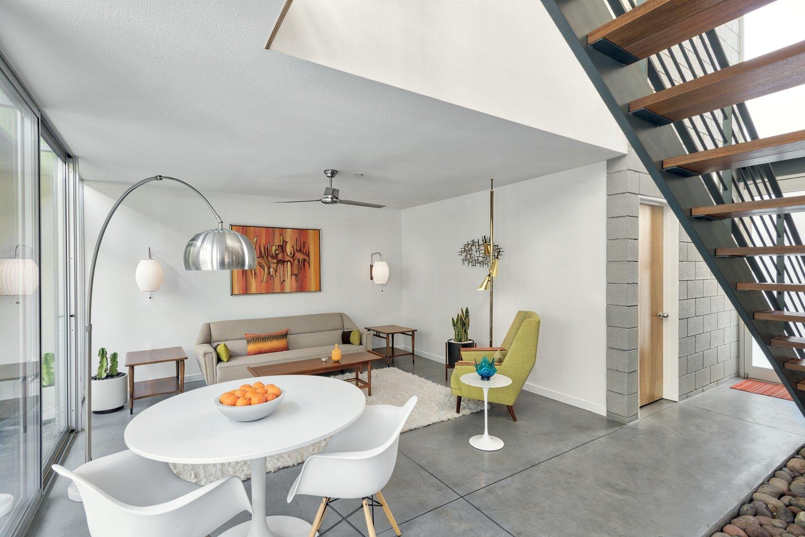 Entrance Vestibule, Living/Client Lounge and Meeting Area