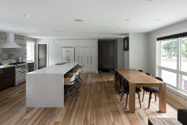 Natural Light was a primary design concern and spatial programing attempts to animate the spaces with as much natural light as possible.  Photo 14 of Burlington Residence modern home