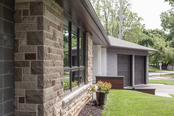 "The existing stone was re-pointed and refurbished because as the architect said, ""they just don't make it like this anymore"". Photo 9 of Burlington Residence modern home"