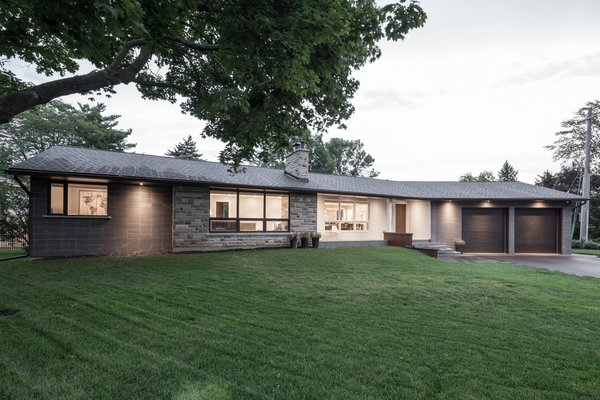 The renovation and addition have been seamlessly stitched together. Photo  of Burlington Residence modern home