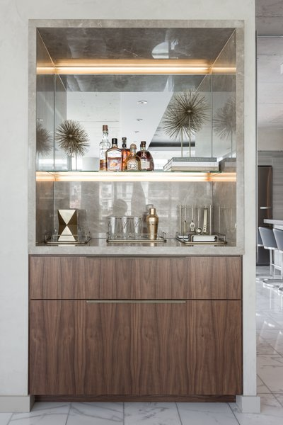The Bar Credenza Photo 17 of Thompson Hotel Private Suite modern home