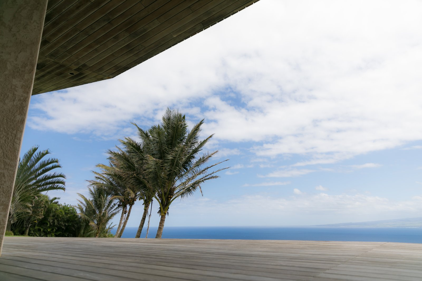 Tagged: Outdoor, Large Patio, Porch, Deck, Wood Patio, Porch, Deck, and Decking Patio, Porch, Deck.  The Clifftop House by Modern on Maui - Liam Ball