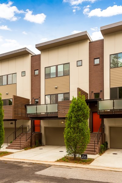 Modern home with outdoor and front yard. Photo 2 of Axis Townhomes