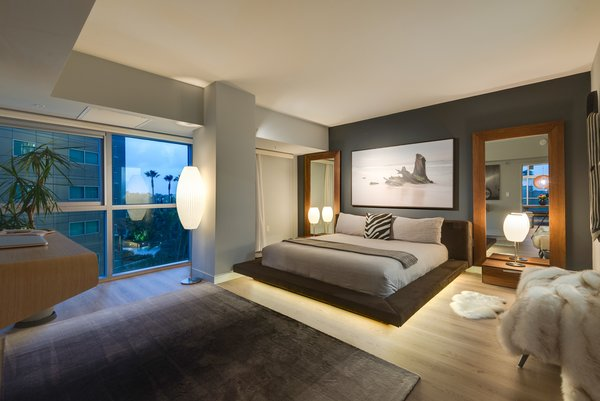 The Master Bedroom has Views Over the Marina Past Playa del Rey to Catalina Island Photo 3 of The Vogel Residence modern home