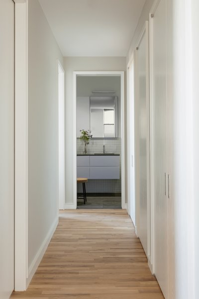 12th Street Loft - Hallway:  #NewYork #interiordesign #architecture #architects  #light #apartment #contemporary #modern #nyc #usa #design #nice #inspiration #designer #interiordesigner #furniture #interior #home #house #hallway Photo 3 of 12th Street Loft modern home