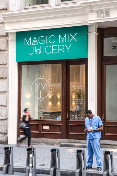 Magic Mix Juicery - Downtown location  #NewYork  #interiordesign #architecture #architects #juicery #light #studio #contemporary #modern #nyc #usa #design #nice #inspiration #designer #interiordesigner #furniture #interior #commercial #juices  Photo 8 of Magic Mix Juicery modern home